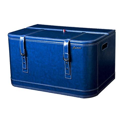 Coffre de Voiture Organisateur boîte de Rangement de Voiture Sangle de Queue de Voiture boîte modèle de Rangement boîte de Rangement boîte de Rangement (Color : Blue, Size : 60 * 39 * 34cm)