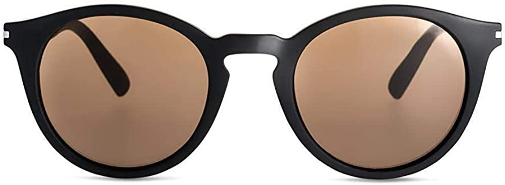 Round Contemporary Designer Sunglasses with UV400 protection Brown
