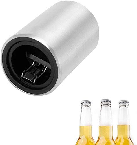 CathEU Apribottiglie per Birra, apribottiglie Magnetico Automatico in Acciaio Inossidabile, Apri Tappo per Bottiglia di Vino, Strumento di Copertura in Vetro Soda (Color)