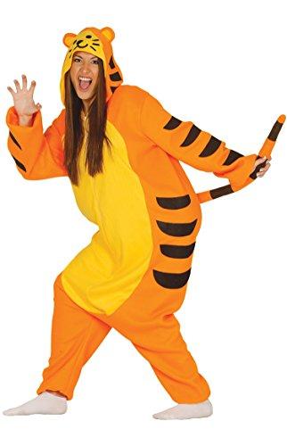Guirca- Disfraz adulta pijama tigre, Talla 42-44 (84346.0)