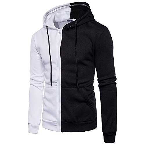 Why Should You Buy Alalaso Men Patchwork Hoodie, Stitching Zipper Coat Jacket Long Sleeve Outwear Sp...