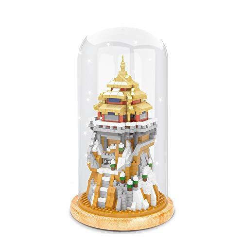 BAIDEFENG Bausteine Kreative Big Fish Baukasten (Acryl Box Mit Lichtmast) Micro-Diamond 3D Puzzle Micro Bricks Kind Baustein Spielzeug,F
