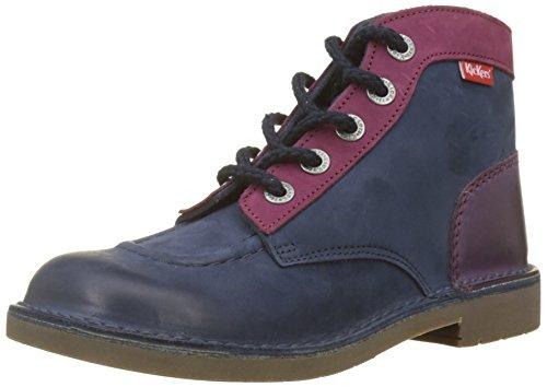 Kickers Unisex-Kinder Kick Col Klassische Stiefel, Blau (Marine Fushia 103), 37 EU