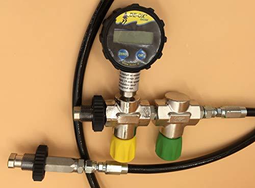 HTD Überströmschlauch für Sauerstoff mit Digitalmanometer bis 350bar