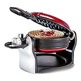 Wafleras Irons, Rotary Wafflera, waflera, 180 grados;Giratoria, 1500W uniformemente con calefacción en ambos lados, no...