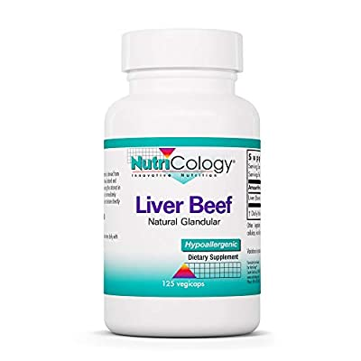 Nutricology/ Allergy Research Group Nutricology, Liver Natural Glandular 125 Capsules from Nutricology