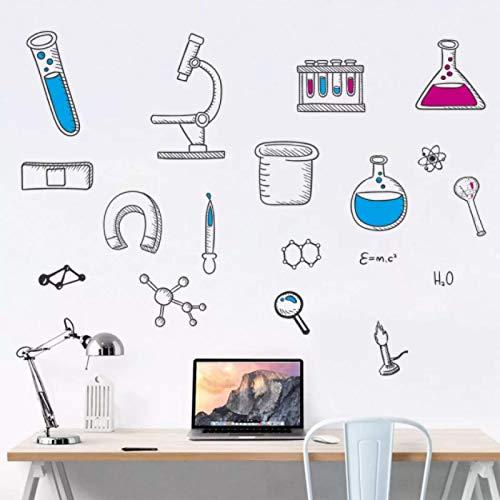 Cartoon Chemie Experiment Tool Wandaufkleber Kinderzimmer Schlafzimmer Hintergrund Dekorationen Wandlabor Labor Aufkleber Wallpaper