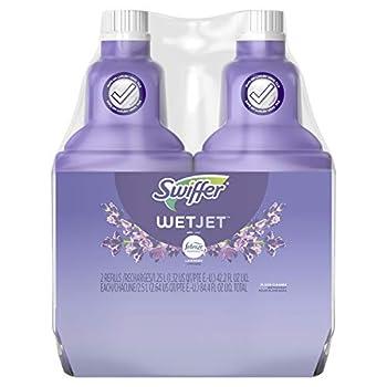 Swiffer WetJet Multi-Purpose Floor Cleaner Solution with Febreze Refill Lavender Vanilla and Comfort Scent 1.25 Liter  Pack of 2