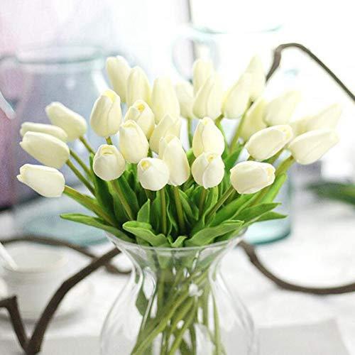 WANGWL 1 Stück gefälschte rote TulpenTulpe künstliche Blumen Tulpen für dieInneneinrichtungviel künstliche Blumen für Hochzeit Tulpensträuße