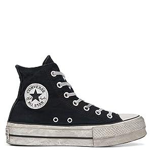 zapatillas converse mujer plataforma negras