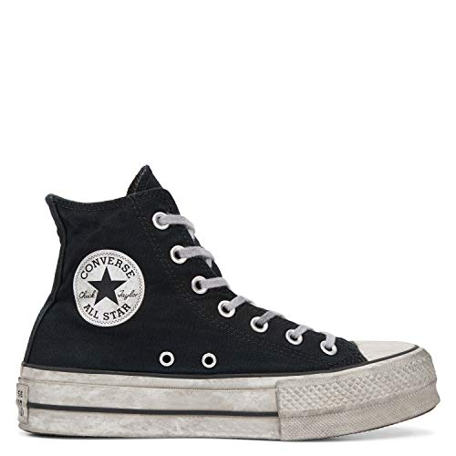 Zapatos de Mujer Zapatilla Negra Alta Chuck Taylor Converse All Star Smoked SS 2019