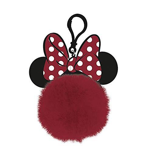 Pyramid Pom Pom Keychain - Minnie Mouse (Bow & Ears)