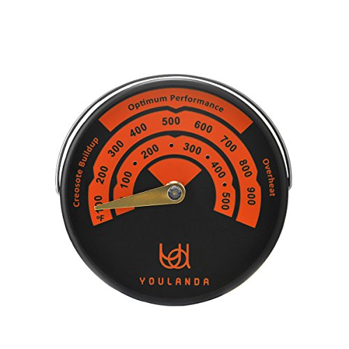 Oven Temperaturer Wood Stove Thermometer,Stove Meter Thermometer for Wood Burning Stoves Top,Flues,Stovepipe Thermometer Measures Temperatures on StoveTop,Avoid Stove Fan Damaged by Overheat