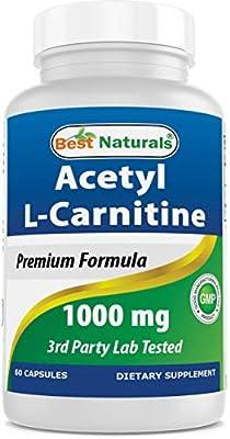 Best Naturals Acetyl L-Carnitine 1000 mg 60 Capsules