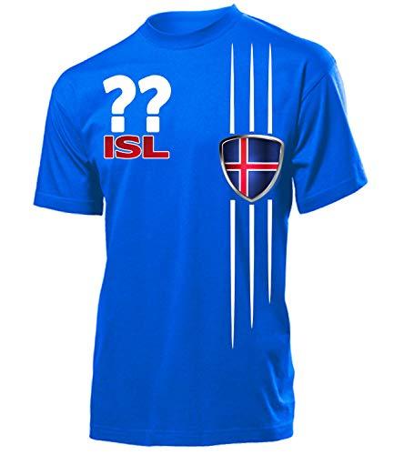 Island Iceland Wunsch Zahl Fanshirt Fussball Fußball Trikot Look Jersey Herren Männer t Shirt Tshirt t-Shirt Fan Fanartikel Outfit Bekleidung Oberteil Hemd Artikel