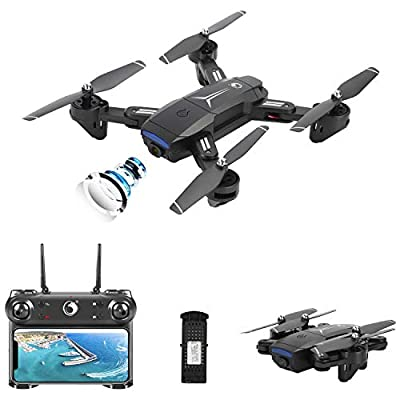 MORFIT Drone with Camera, Foldable Camera Drone for Kids and Adults 1080p Full HD FPV, Optical Flow, Altitude Hold, Gesture Selfie, RC Quadcopter
