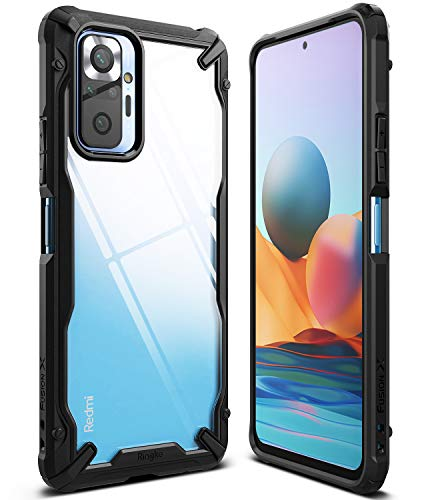 Ringke Fusion-X Compatible con Funda Xiaomi Redmi Note 10 Pro (6,67 Pulgadas), Compatible con Funda Redmi Note 10 Pro MAX, Transparente Rigida Carcasa Parachoque TPU - Black (Negro)