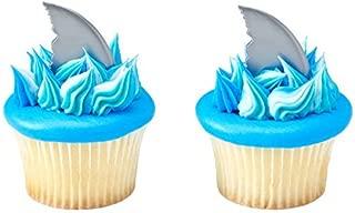 Shark Fin Cupcake Picks - 24 pc