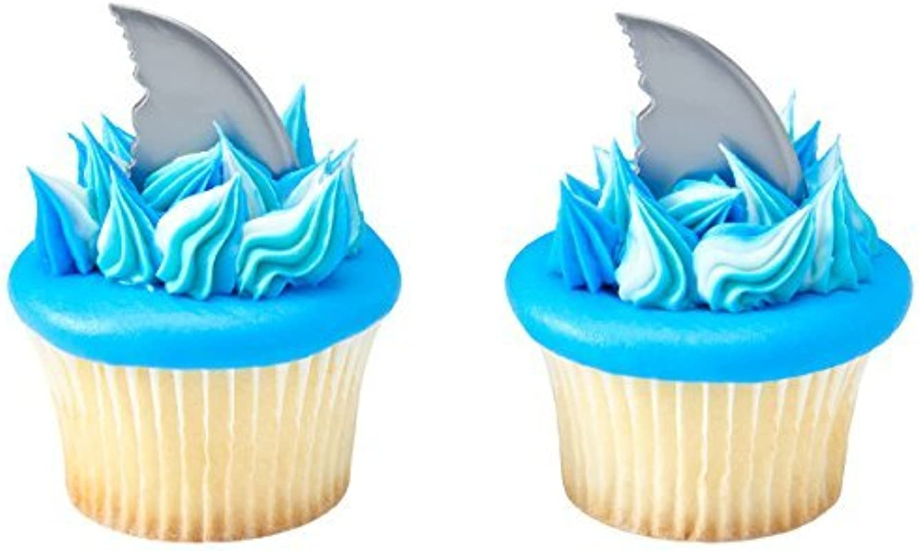 Shark Fin Cupcake Picks 24 Pc