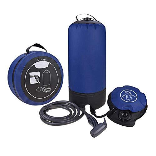 Sac de Bain et buse de Camping, Douche à Pression Portable avec Pompe à Pied, Lave-Auto Multifonction ou Nettoyage pour Animaux de Compagnie, Grande capacité 11L / 2,9 gallons