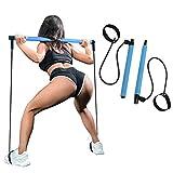 SIYWINA Kit de Barra de Pilate Yoga Bandas de Resistencia portátil Yoga Pilates para Fitness