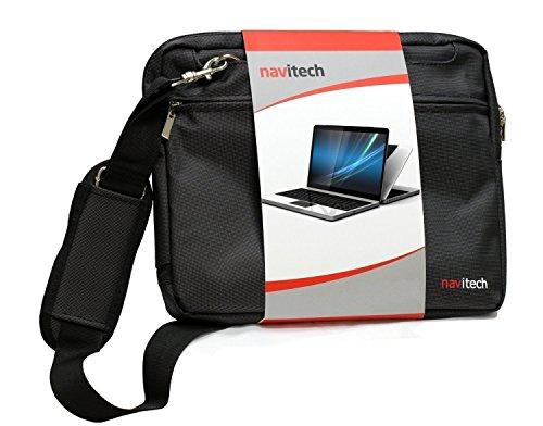 Navitech Sac de Transport Noir Ordinateur Compatible avecASUS C302CA-GU010 360 Degrees Rotatable Full HD Touchscreen Chromebook Flip 12.5 inch Notebook