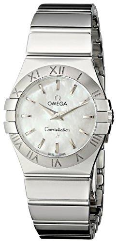 Omega Damen-Armbanduhr Analog Quarz Edelstahl 12310276005002