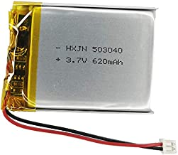 3.7V 503040 Battery 620mAh for Cozmo Vector Robot Battery Replacement,SkyBell HD WiFi Video Doorbell Battery Replacement,Flysight FPV Watch? Wireless Speaker Battery Replacement