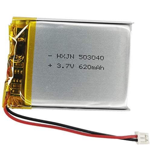 3.7V 503040 Battery 620mAh for Cozmo Vector Robot Battery Replacement,SkyBell HD WiFi Video Doorbell Battery Replacement,Flysight FPV Watch、 Wireless Speaker Battery Replacement
