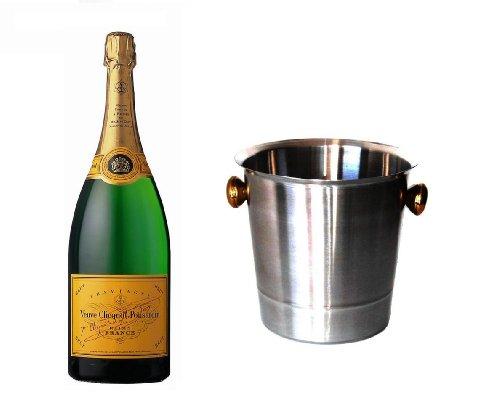Veuve Clicquot Champagner Brut im Champagner Kühler 12% 0,75 l. Flasche