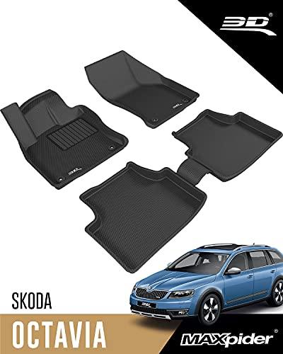 3D MAXpider Allwetter Fussmatten für Škoda Octavia 5E 2014-2020 Passgenaue Fußmatten Auto Gummi Matten Gummimatten (4-Teiliges Set)