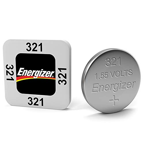Energizer 321 Button Cell Silver Oxide SR616SW Watch Battery Pack of 5 Batteries