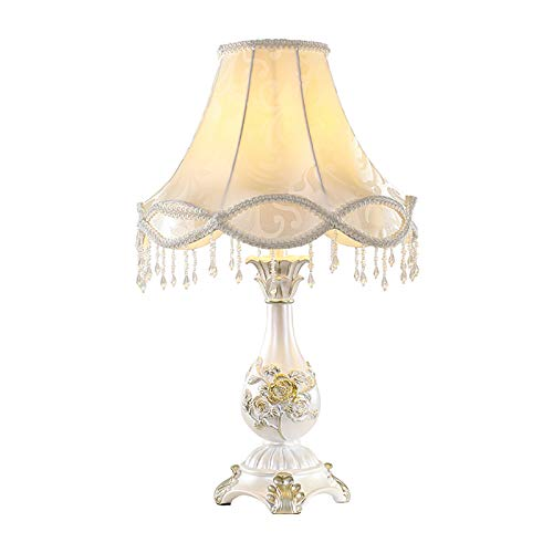 Lámpara de mesa de estilo europeo para dormitorio o mesita de noche, estilo retro americano, boda,...