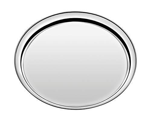 Tramontina 61413-400 - Vassoio rotondo in acciaio INOX, Ø 40 cm, lavabile in lavastoviglie, antiruggine