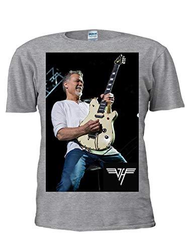 Unisex Eddie Van Halen Tribute T-shirt, Grey or White, S to XXL