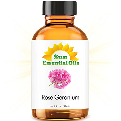 Rose Geranium Essential Oil (Huge 2oz Bottle) Bulk Rose Geranium Oil - 2 Ounce