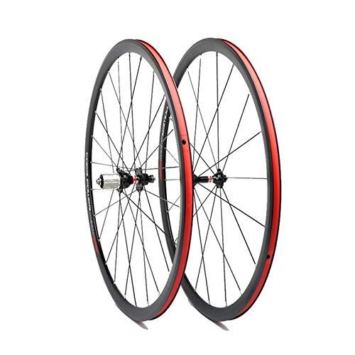 NUE Ultraligero bicicleta de carretera de ruedas 700C V freno de aluminio llantas de aluminio de 30 mm de altura NOVATEC 8-11 Teniendo velocidad Hub de acero inoxidable de los rayos de liberación rápi