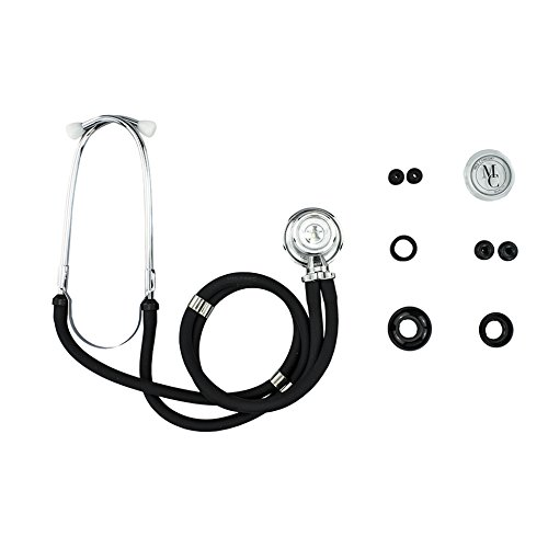 1x Rappaport Doppelschlauch Stethoskop inkl. Zubehör, Farbe: schwarz von der Firma Vitamed Matthias Quinger