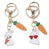 ABOOFAN 2Pcs Portachiavi Coniglio Coniglietto Giorno di Pasqua Coniglio Carota Regalo Portachiavi Portachiavi Uova di Pasqua Riempitivi Ripieni