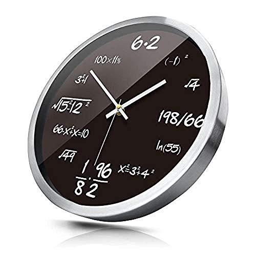 Reloj de pared controlado por radio Reloj de pared silencioso de metal redondo sala de estar dormitorio reloj de cuarzo 12 pulgadas_B reloj de pared silencioso Sin tictac Silencioso,C_12 pulgadas,Relo