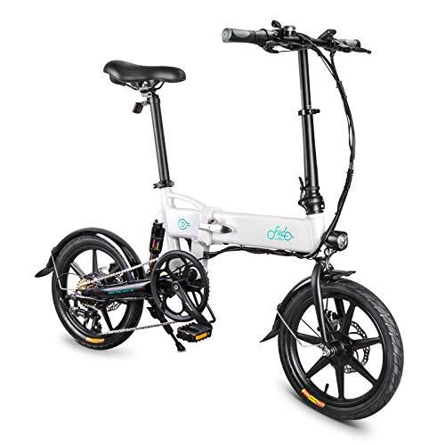 KaariFirefly Bici elettrica Pieghevole per Adulti, Bici elettrica Pieghevole a velocità variabile con Telaio in Lega di magnesio Leggero con, Motore da 250 W, Batteria da 36 V 7,8 Ah, 25 km/h Bianco