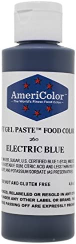Americolor Soft Gel Paste Food Color 4 5 Ounce Electric Blue product image