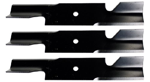 USA Mower Blades U11185BP (3) Extra High-Lift for Simplicity 5021227ASM Scag 482878 A48108 Length 18 in. Width 3 in. Thickness .203 in. Center Hole 5/8 in. 36in. 52 in. 54 in. Deck