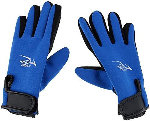 1 Paar M/L/XL 2mm Neopren-Tauchhandschuhe Anti Slip Flexible Thermal Wetsuits Handschuhe for Schnorcheln Schwimmen Surfen Segeln Kajak Tauchen (Farbe : Blau, Size : XL)