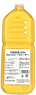 沖縄県産100% ぎゅっとシークヮーサー 2000ml ストレート 1本 青切り シークヮーサー 原液