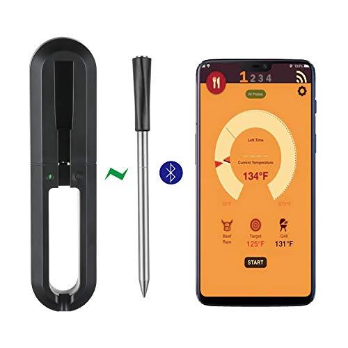 gootrades Wireless Meat Thermometer - 100ft Range True Smart Bluetooth Connectivity Flesh...