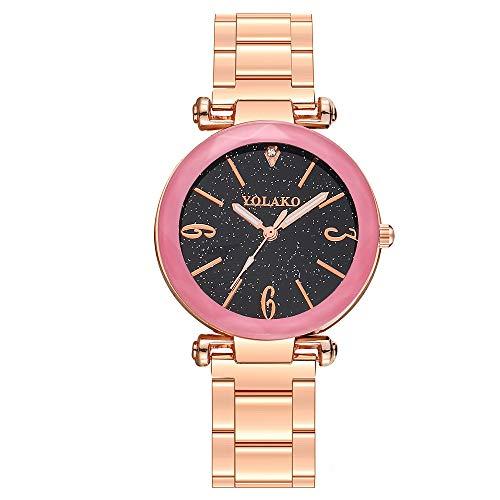 Reloj Javpoo de Acero Inoxidable - Reloj de Pulsera analógico de Cuarzo Casual para Mujer, Reloj de Pulsera, Reloj de cumpleaños del día de San Valentín, Relojes de Mujer en Oferta Relojes para Mujer