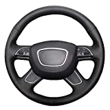 NsbsXs Für Audi A6 (C7) 2012 2016 Q3 2013 2017 Q5 2013 2017 Q7 2012 2015 Schwarz PU Handlenkradabdeckung