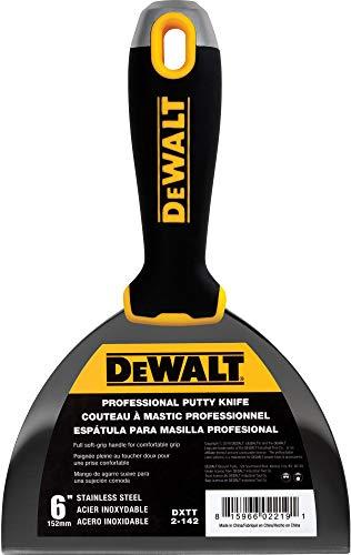 DEWALT 6 Putty Knife   Stainless Steel w/Soft Grip Handle   DXTT-2-142