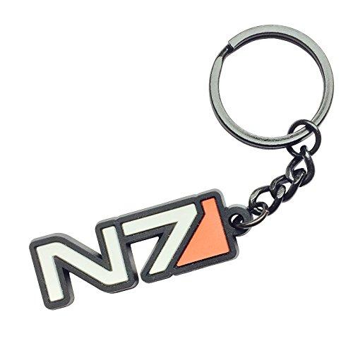 Mass Effect Schlüsselanhänger N7 Logo 11,7cm schwarz